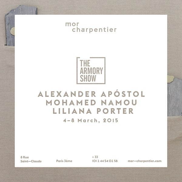 mor charpentier - The Armory Show 2015
