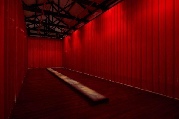 Aproximación al lugar de los hechos, 2020 (Mixed media Installation – Installation view, Biennale of Sydney, 2020)